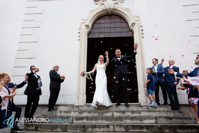 Italian wedding ceremony Lombardia