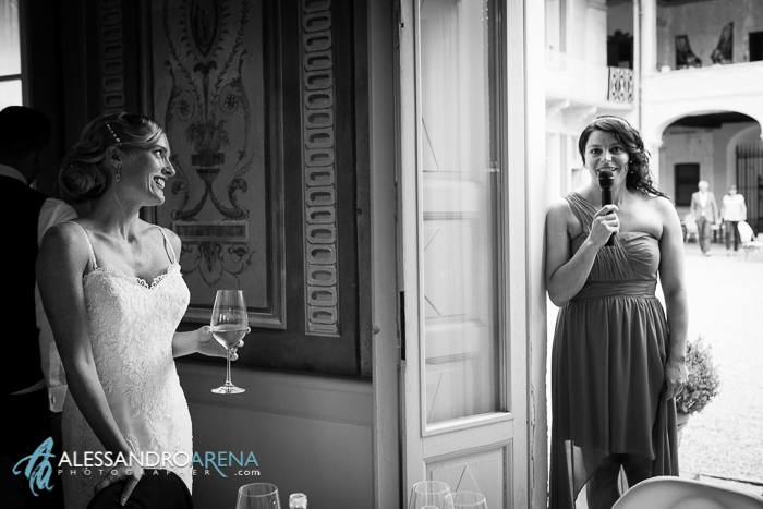 Italian wedding venue Lombardia Villa Bossi - friend's speech