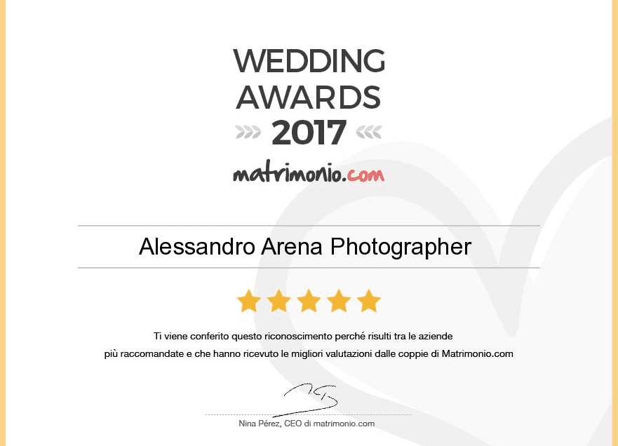 wedding awards 2017 Alessandro Arena