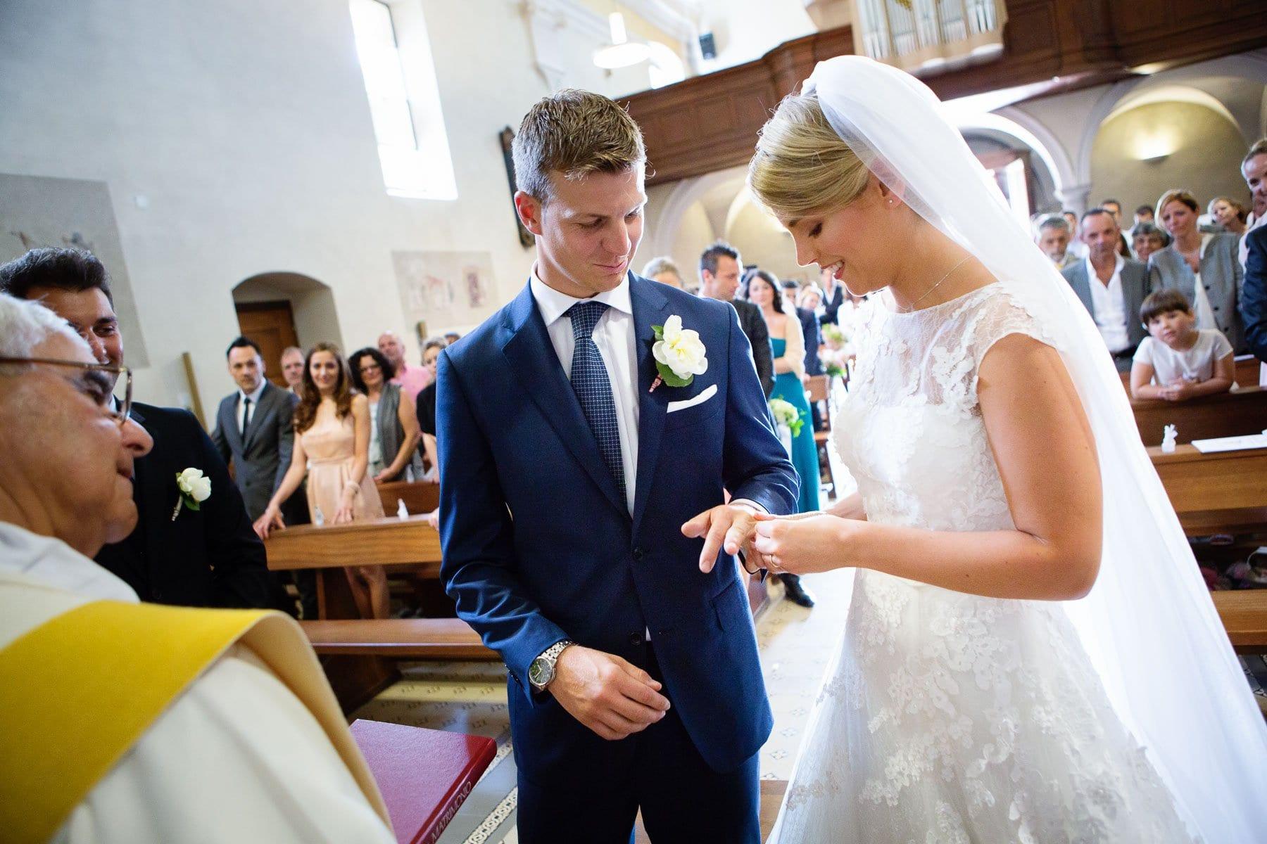 Matrimonio a Giubiasco - Scambio degli anelli