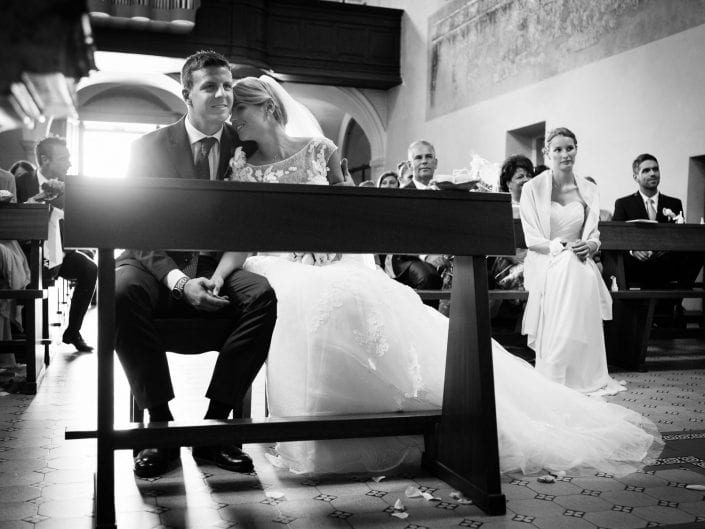 Sposi durante la cerimonia a Giubiasco - Bellinzona