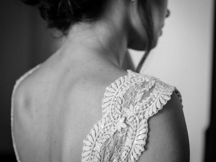 Dettaglio abito da sposa