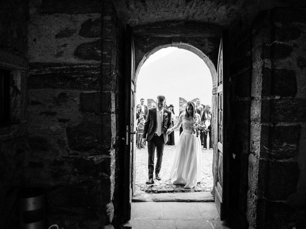 Rito civile Castello di Sasso Corbaro - Sposi