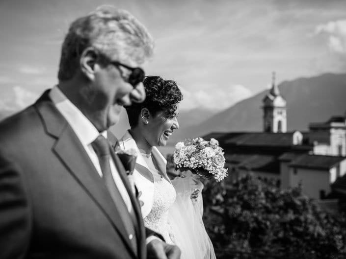 Sposa e Padre della sposa - Chiesa Madonna del sasso Locarno Ticino - Svizzera