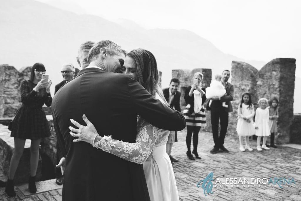 foto matrimonio castello Sasso Corbaro Bellinzona - Emozioni