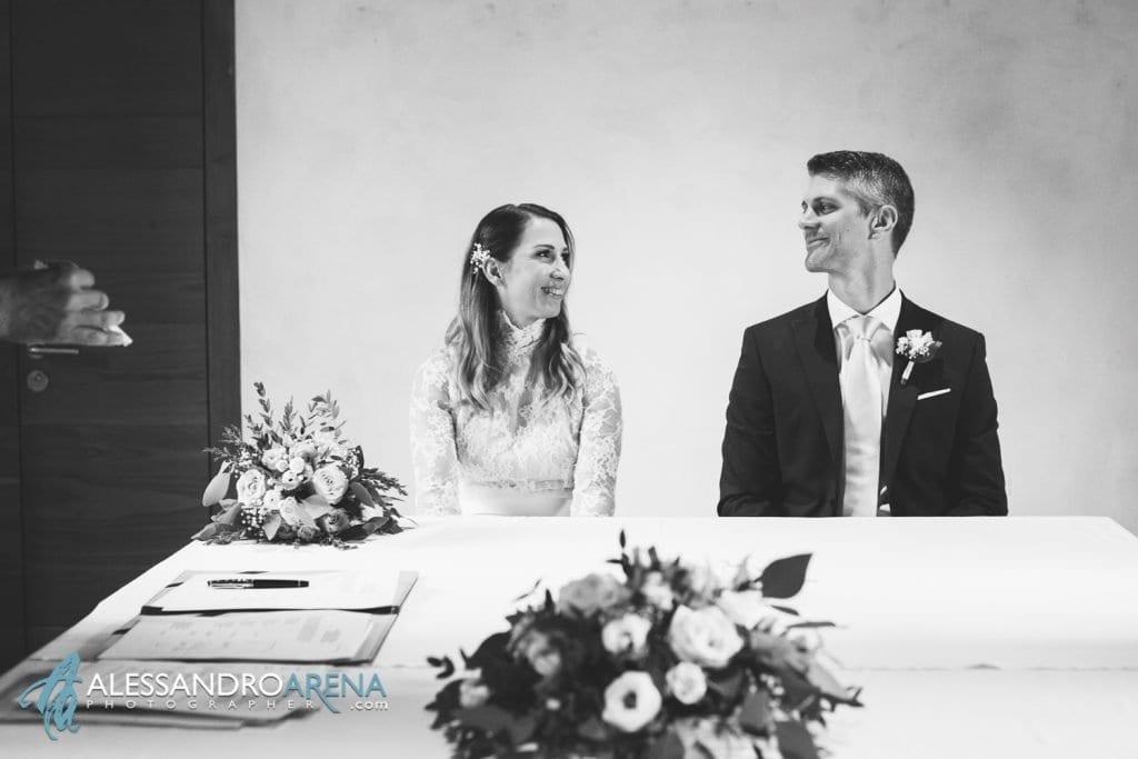 foto matrimonio rito civile castello Sasso Corbaro Bellinzona - Sposi