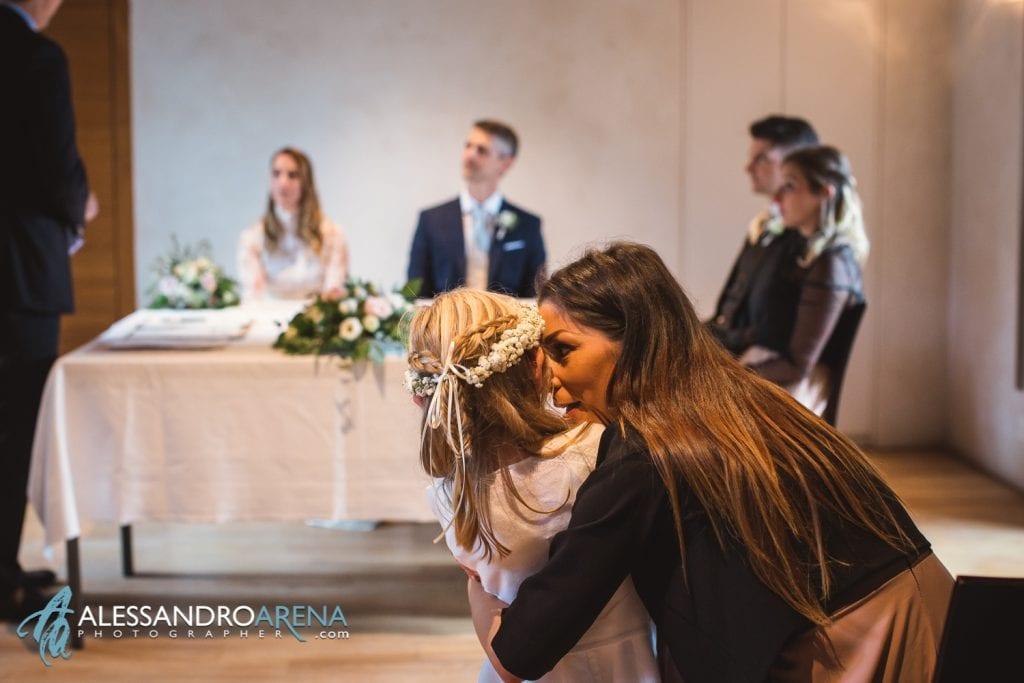 foto matrimonio rito civile castello Sasso Corbaro Bellinzona - invitati