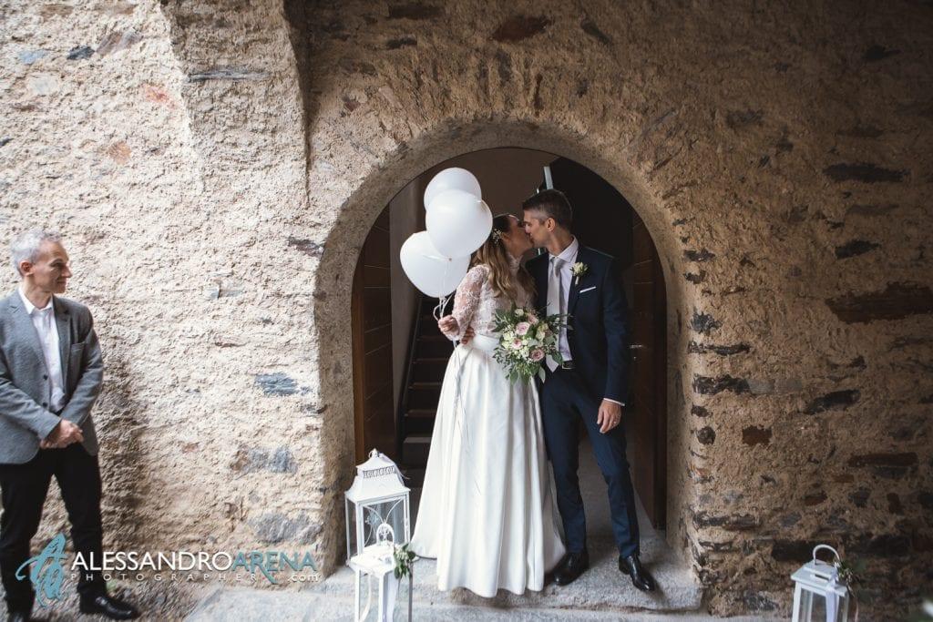 foto matrimonio rito civile castello Sasso Corbaro Bellinzona - Viva gli sposi