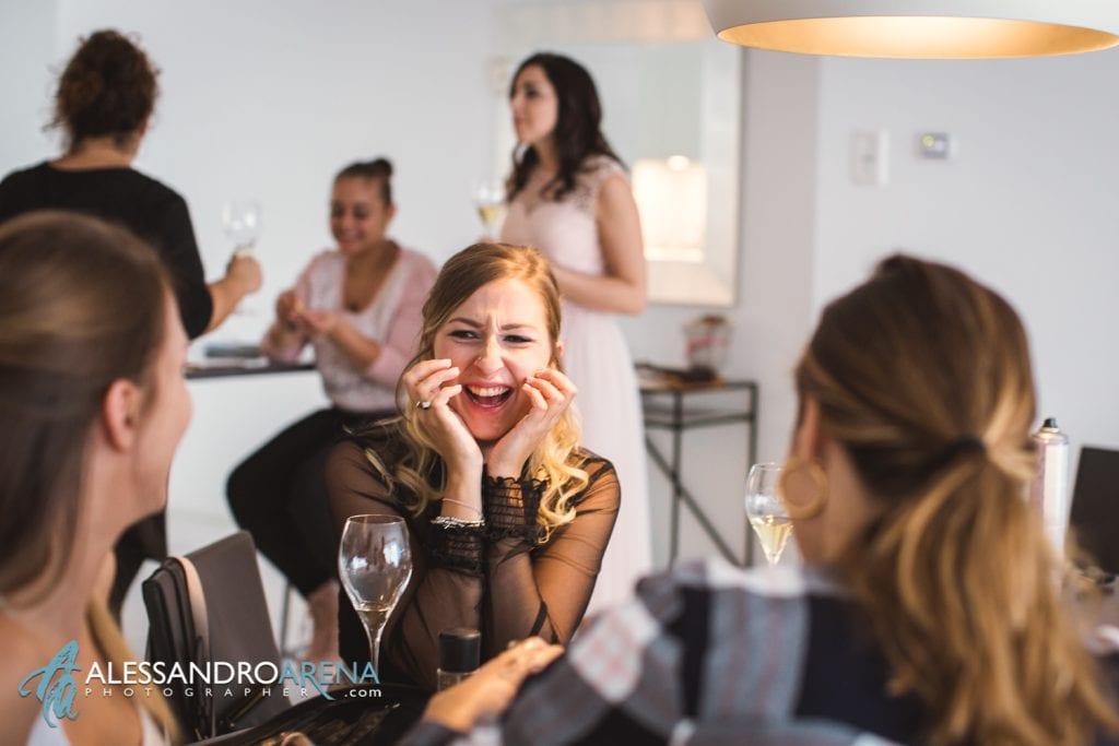 foto preparativi sposa makup parrucco bellinzona - happy
