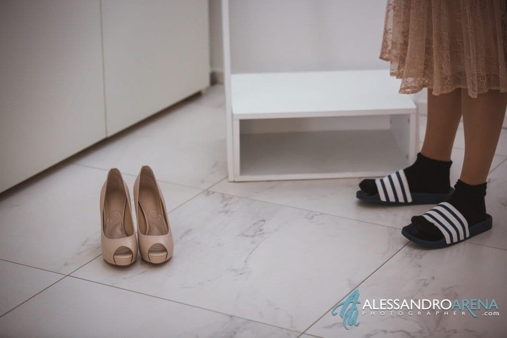 preparativi sposa - dettaglio scarpe sposa