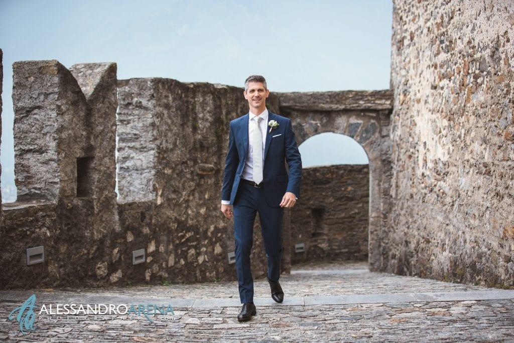 matrimonio castello Sasso Corbaro Bellinzona- - Lo sposo
