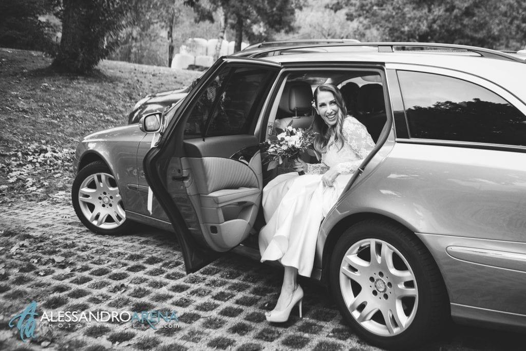 matrimonio castello Sasso Corbaro Bellinzona - L'arrivo della sposa