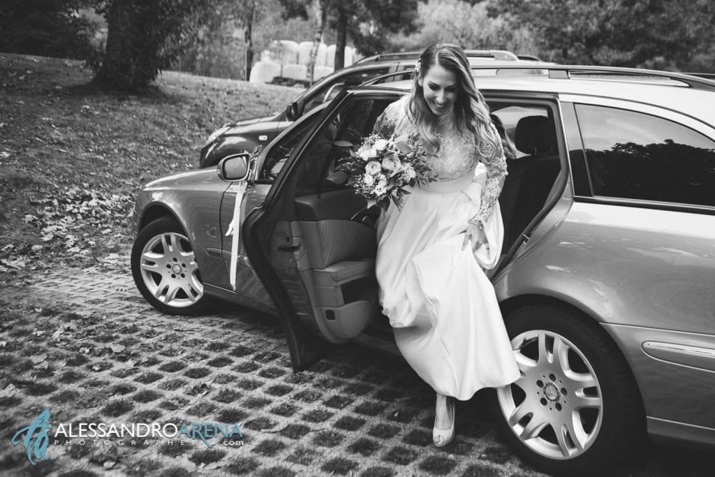 matrimonio castello Sasso Corbaro Bellinzona - Arrivo della sposa