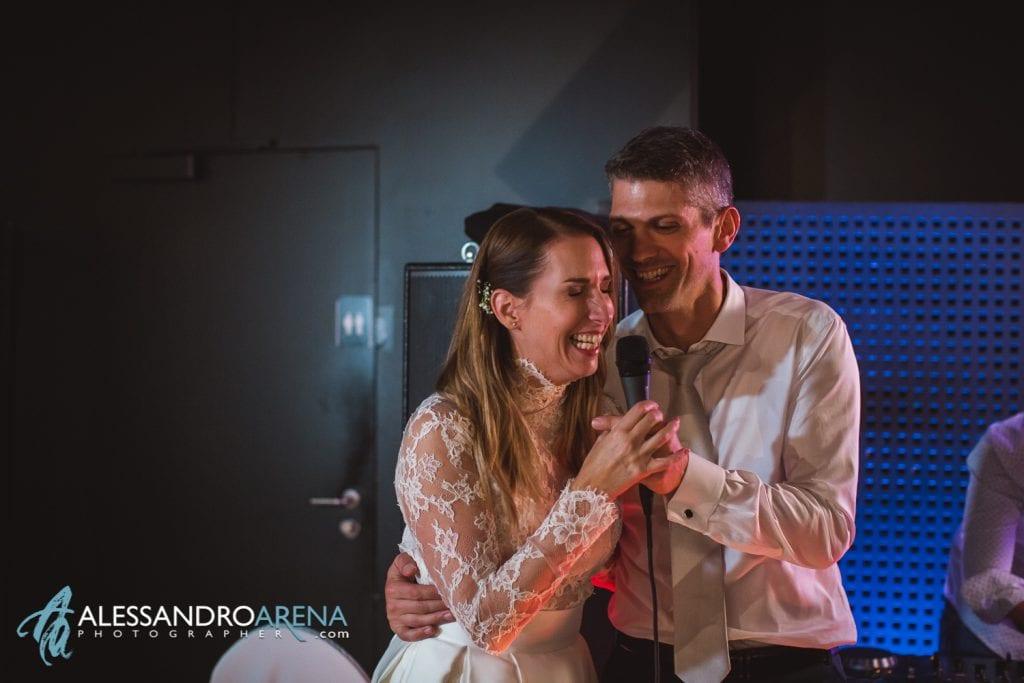 Matrimonio ricevimento ristorante Castelgrande Bellinzona - Festa e canti