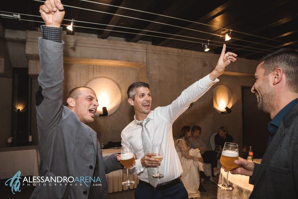 Ricevimento ristorante Castelgrande Bellinzona - Brindisi durante lo standing dinner