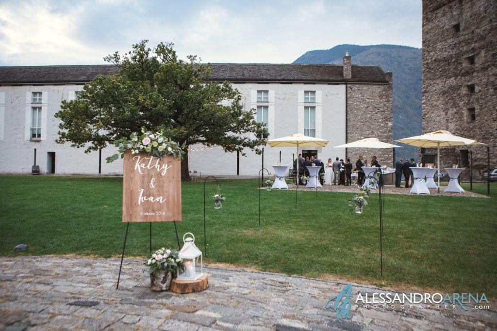 Matrimonio ricevimento ristorante Castelgrande Bellinzona - Aperitivo