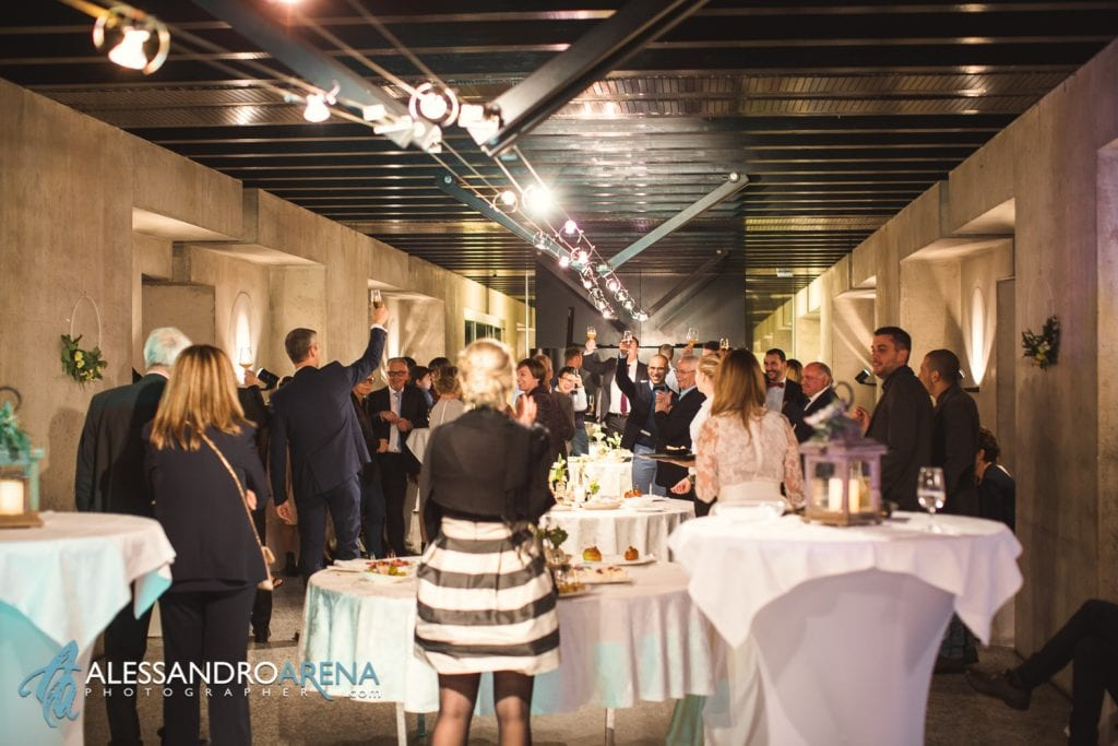 Matrimonio ricevimento ristorante Castelgrande Bellinzona - Standing Dinner