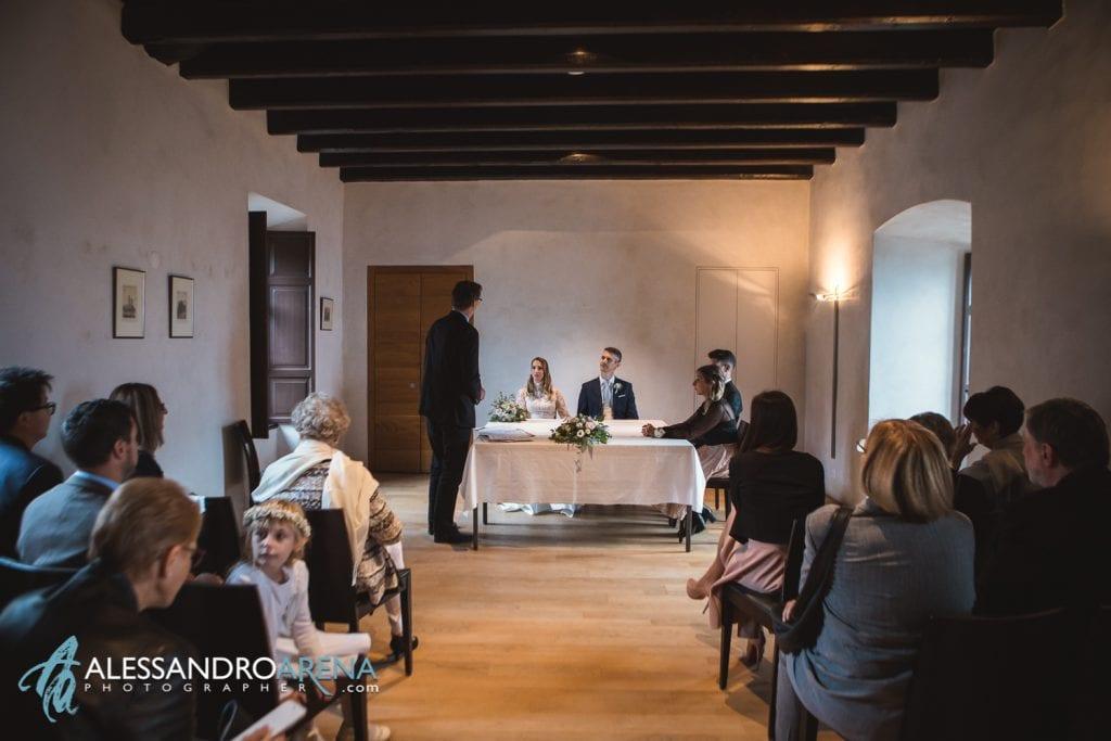 Sala rito civile castello Sasso Corbaro Bellinzona
