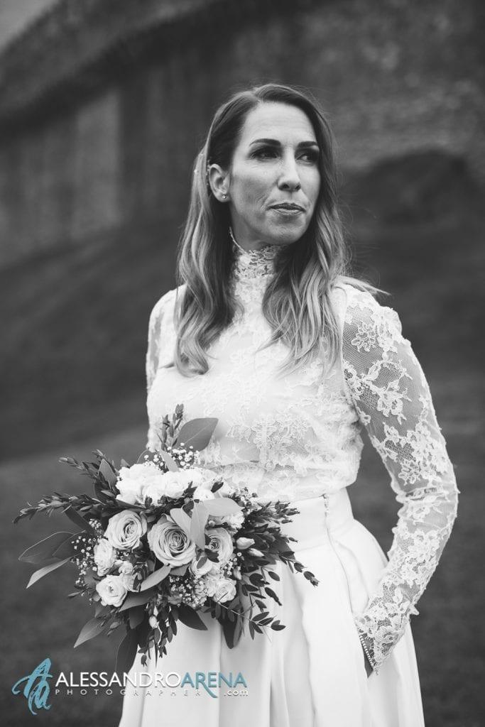 Sposi castello di  Montebello Bellinzona - La sposa