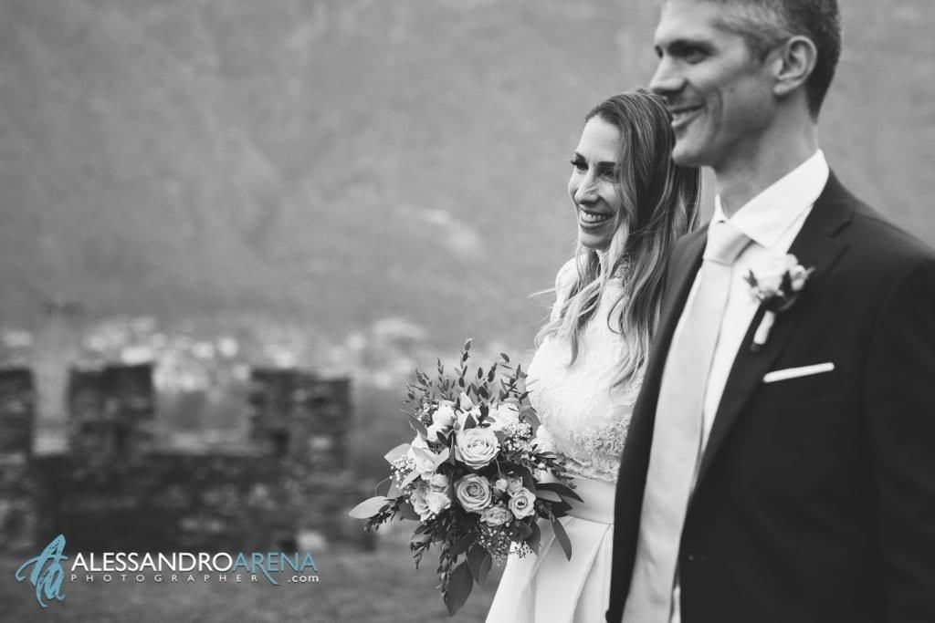 Sposi castello di Montebello Bellinzona - Sposa