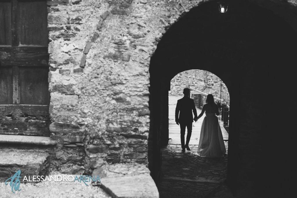 Sposi castello di  Montebello Bellinzona - Sposi