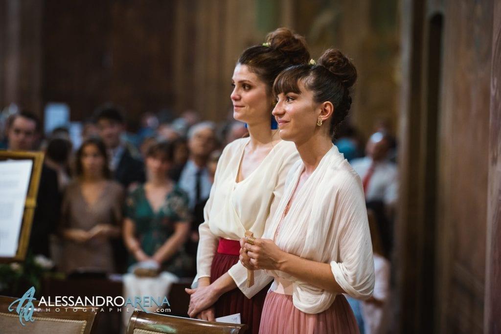 Testimoni della sposa - Chiesa Sant'Antonio Abate alla Motta - Matrimonio a Varese - Alessandro Arena Fotografo