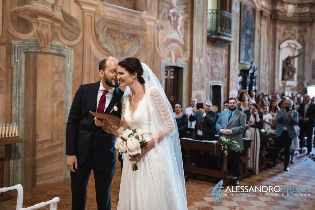 Incontro sposi - Chiesa Sant'Antonio Abate alla Motta - Matrimonio a Varese - Alessandro Arena Fotografo