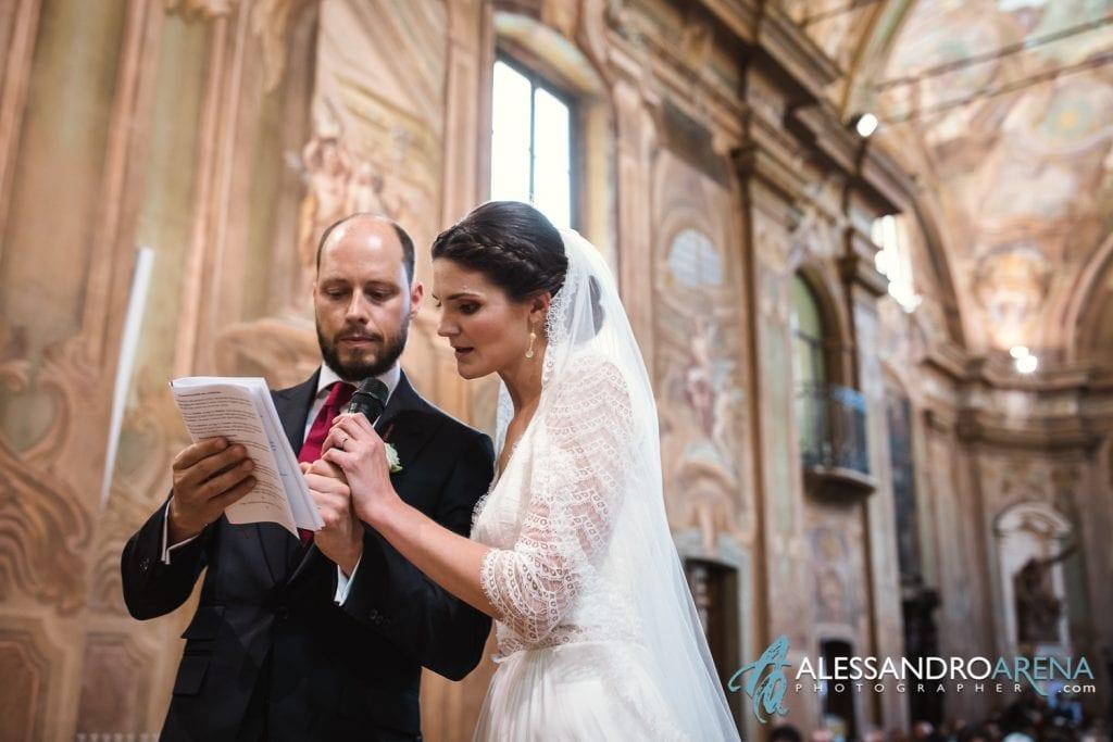 Le promesse - Matrimonio Chiesa Sant'Antonio Abate alla Motta - Matrimonio a Varese - Alessandro Arena Fotografo