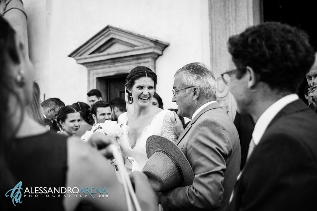 Sposa felice - Matrimonio a Varese - Chiesa Sant'Antonio Abate