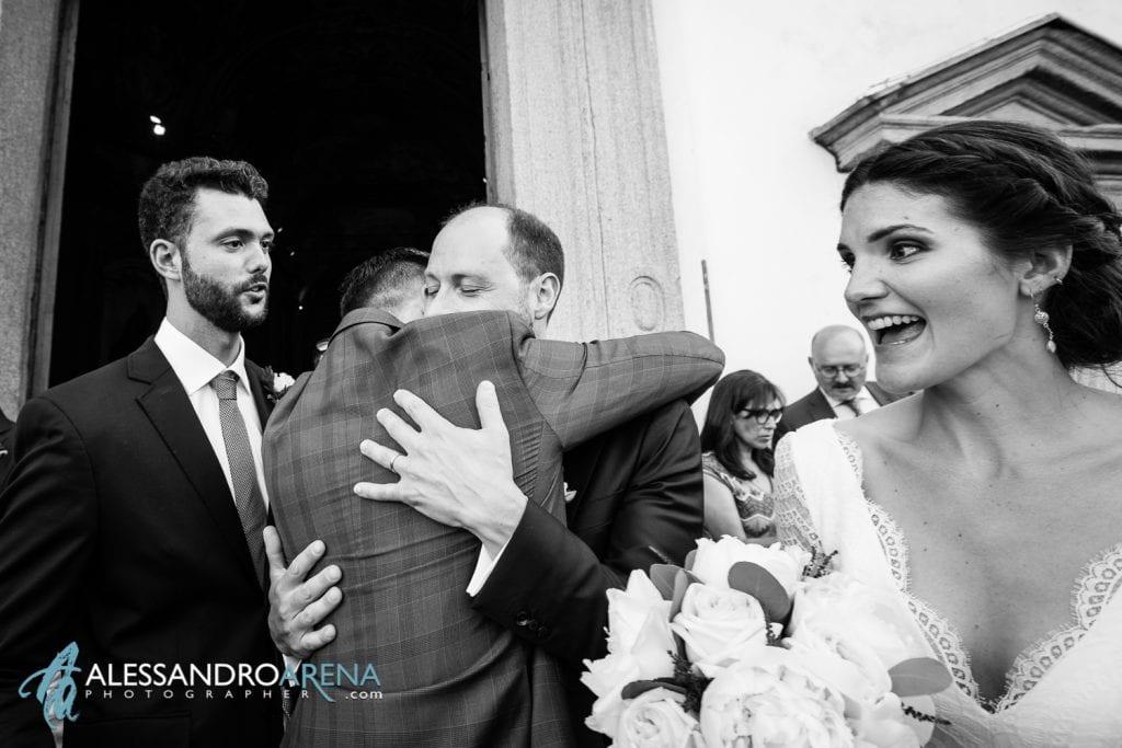 Auguri allo sposo - Matrimonio a Varese - Chiesa Sant'Antonio Abate - Alessandro Arena Fotografo
