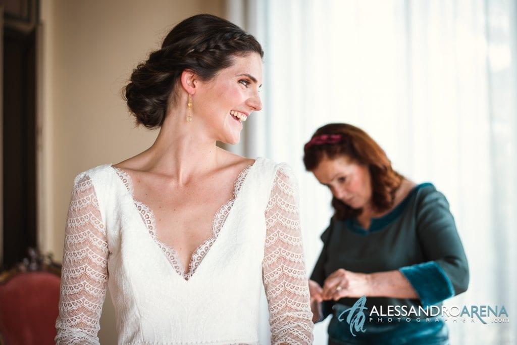 Sposa e Abito - Matrimonio a Varese Location Villa Esengrini Montalbano - Alessandro Arena Fotografo