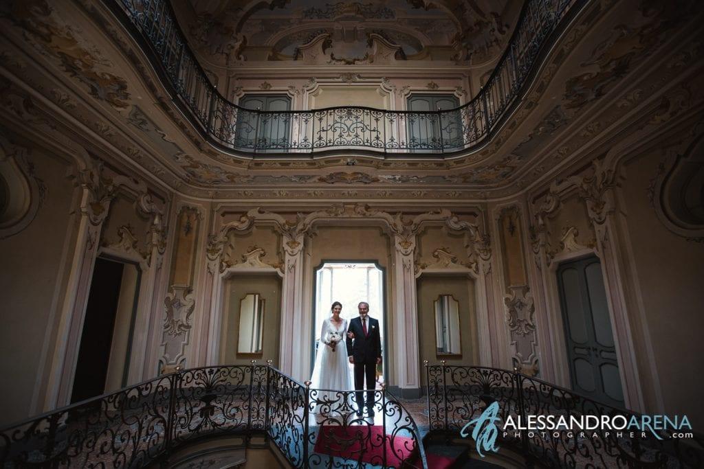 Sposa e Padre - Matrimonio a Varese Location Villa Esengrini Montalbano - Alessandro Arena Fotografo