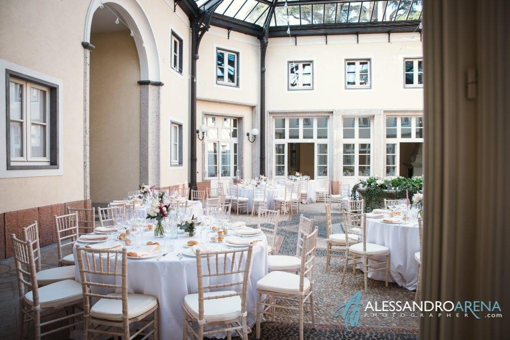Allestimenti - Matrimonio a Villa Esengrini Montalbano Varese - Allestimenti Sala