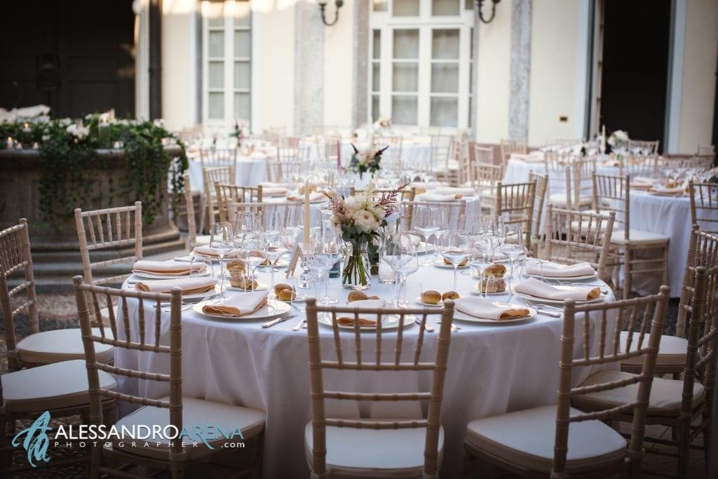 Tavolo invitati - Matrimonio a Villa Esengrini Montalbano Varese - Allestimenti Sala