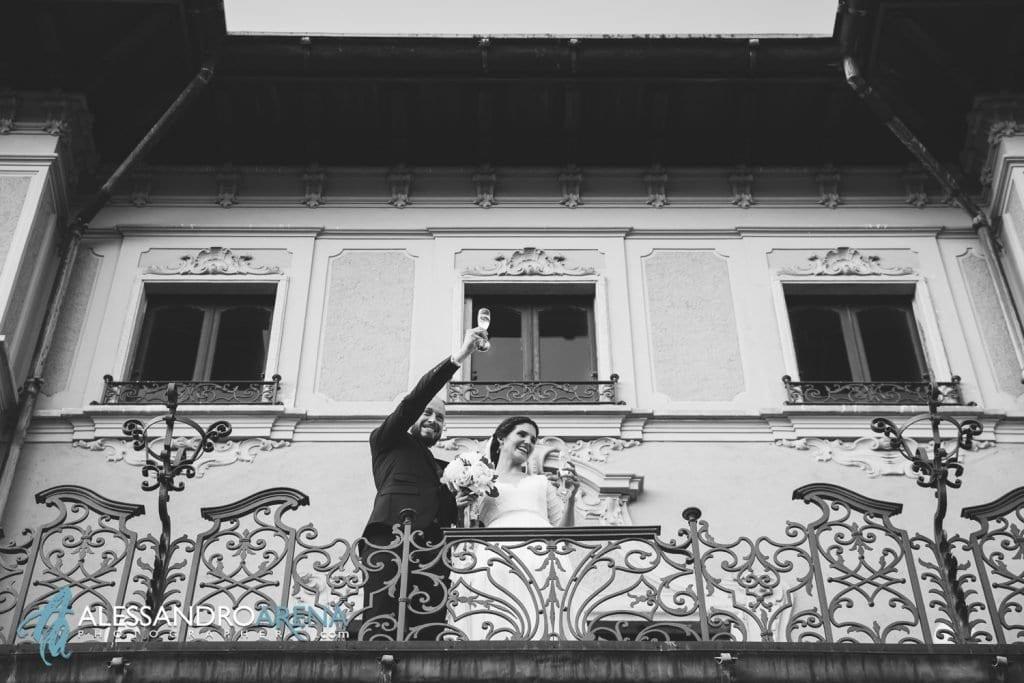 Brindisi degli Sposi - Matrimonio a Villa Montalbano Varese - Aperitivo
