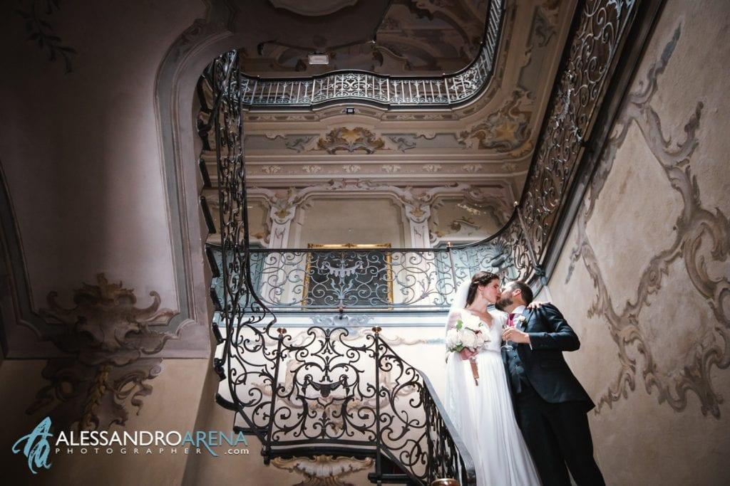 Scalinata della villa - Matrimonio a Villa Montalbano Varese