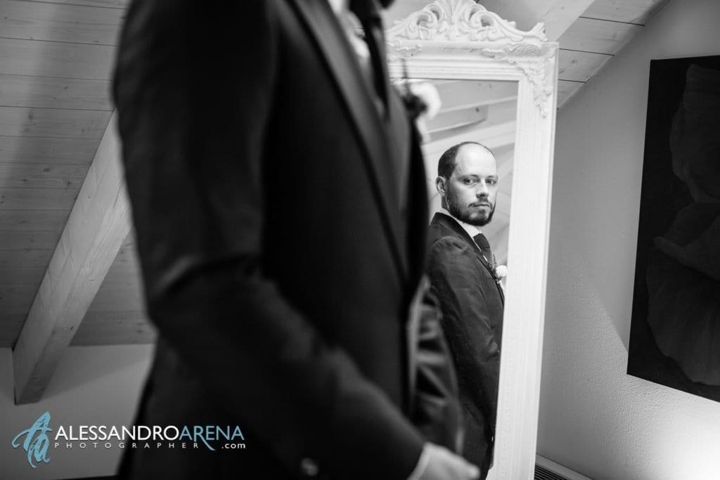 Lo sposo è pronto - Preparativi Sposo Matrimonio a Varese Location - Art Hotel