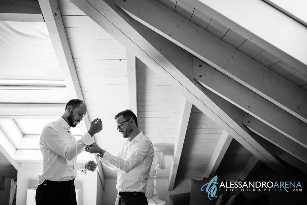 Testimone Aiuta lo sposo - Preparativi Sposo Matrimonio a Varese Location - Art Hotel