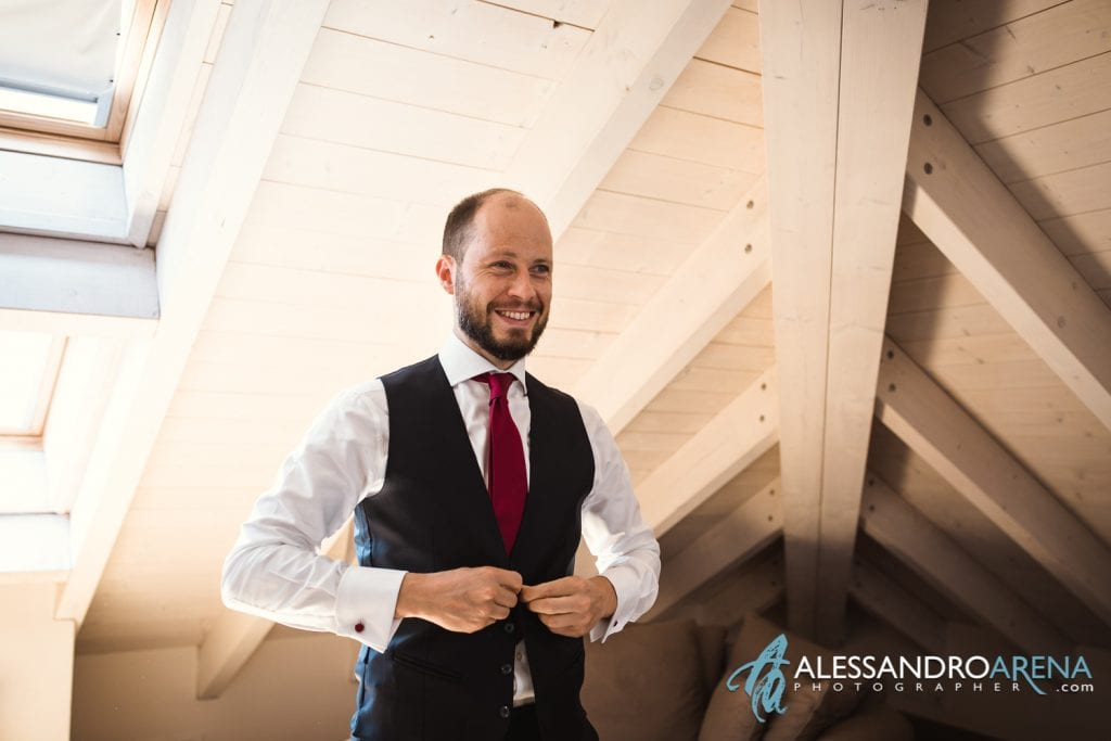 Gilet - Preparativi Sposo Matrimonio a Varese Location - Art Hotel