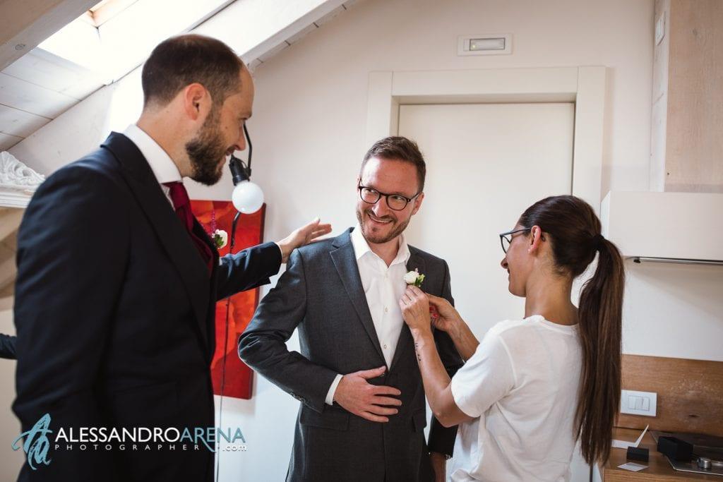 Fiore all'occhiello -  Preparativi Sposo Matrimonio a Varese Location - Art Hotel