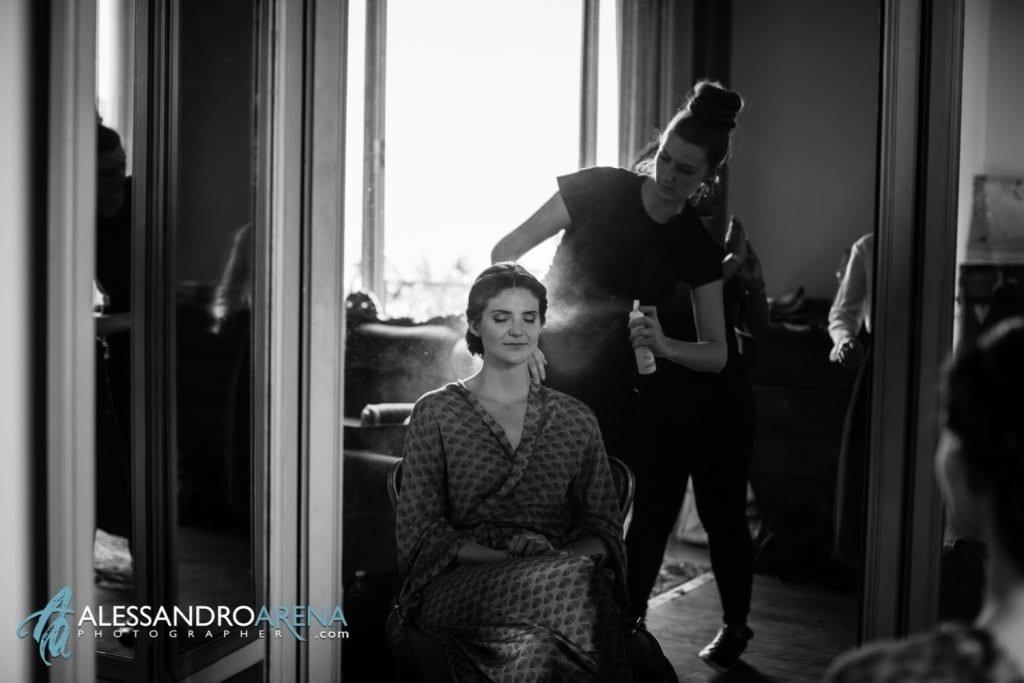Lacca - Preparativi sposa Matrimonio a Varese Location Villa Esengrini Montalbano