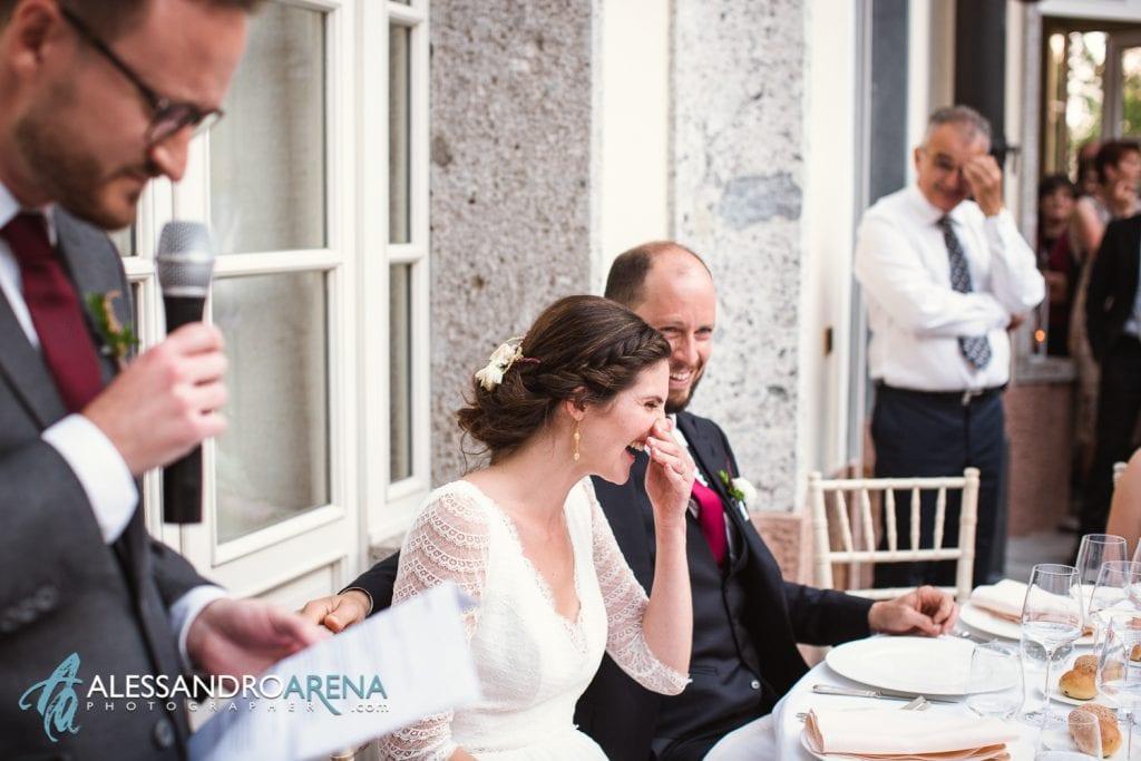 Discorso testimone - Sposi a Villa Esengrini Montalbano Varese - Reportage - Alessandro Arena Fotografo
