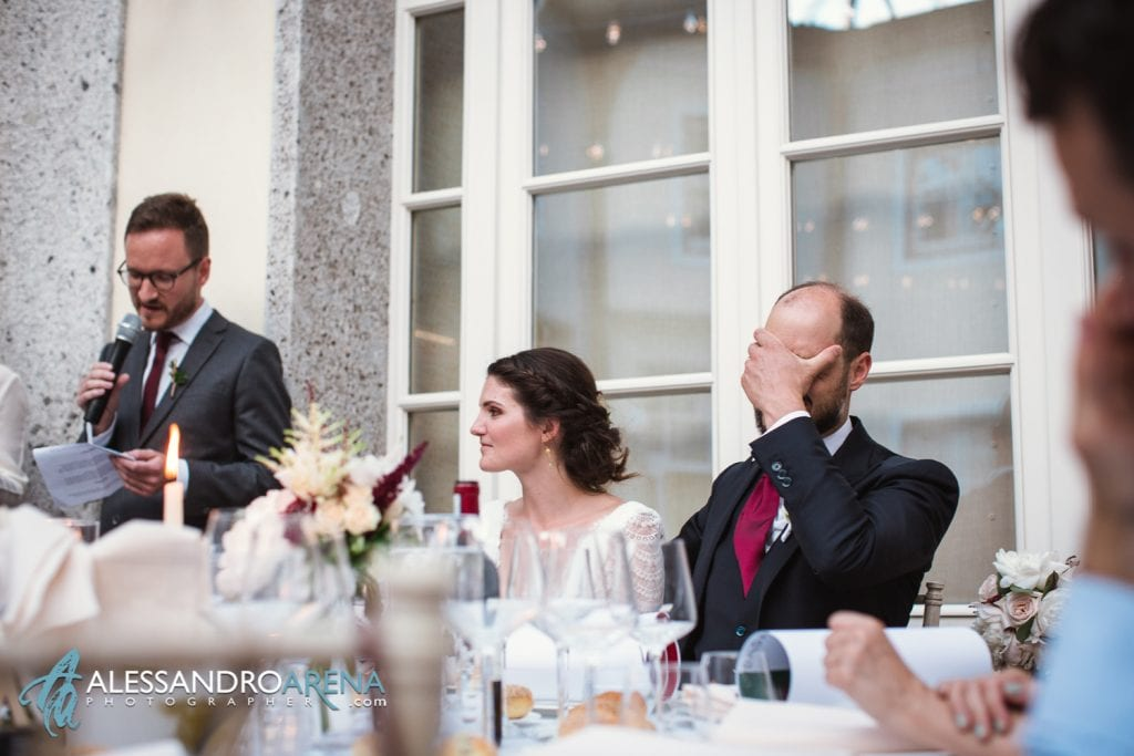 Discorso allo sposo - Sposi a Villa Esengrini Montalbano Varese - Reportage