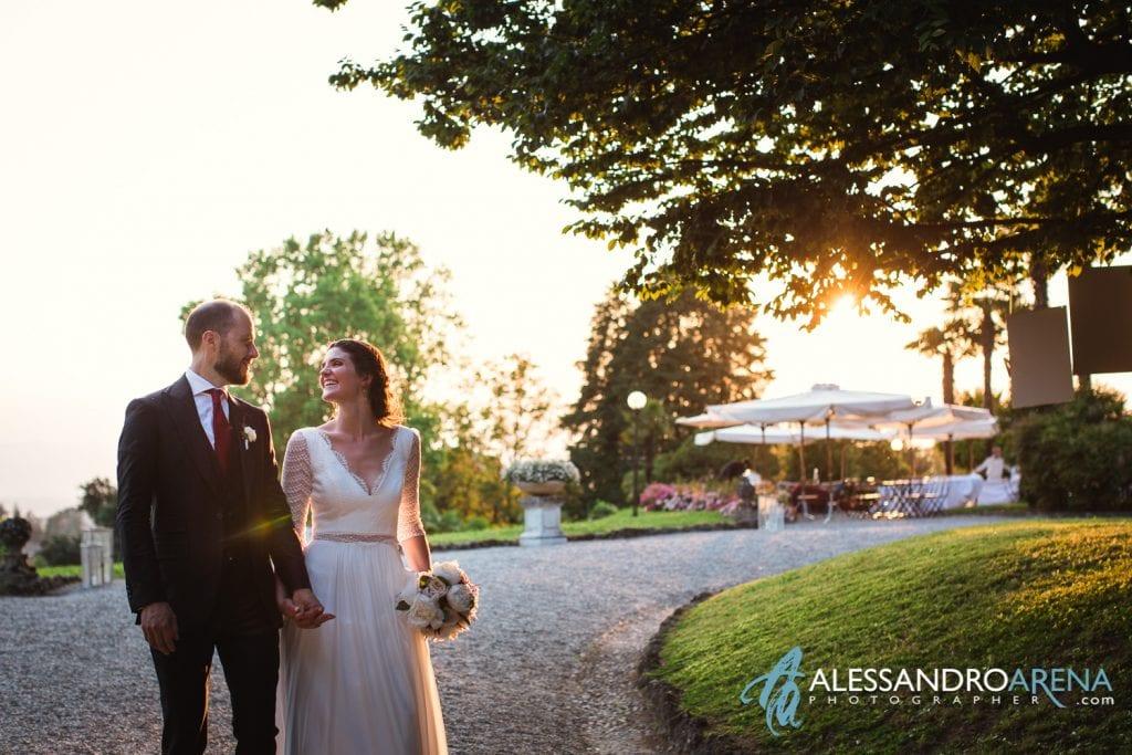 Passeggiata Sposi a Villa Esengrini Montalbano Varese - Reportage - Alessandro Arena Fotografo