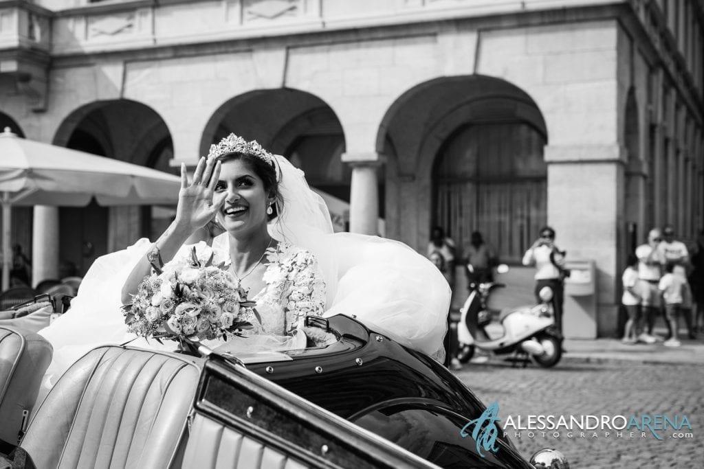 Chiesa Collegiata Bellinzona - Arrivo della sposa