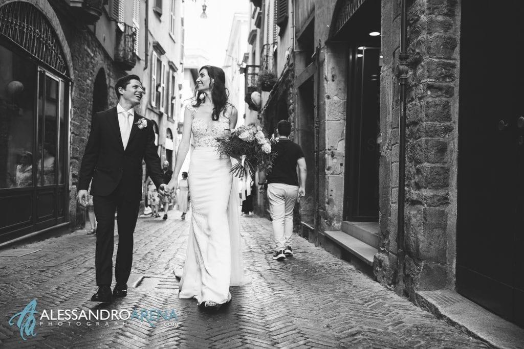 Foto Matrimonio Bergamo Alta - Sposi