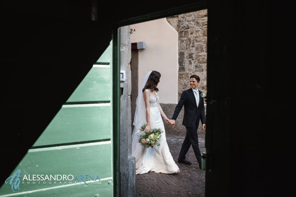 Sposi per le vie di Bergamo Alta