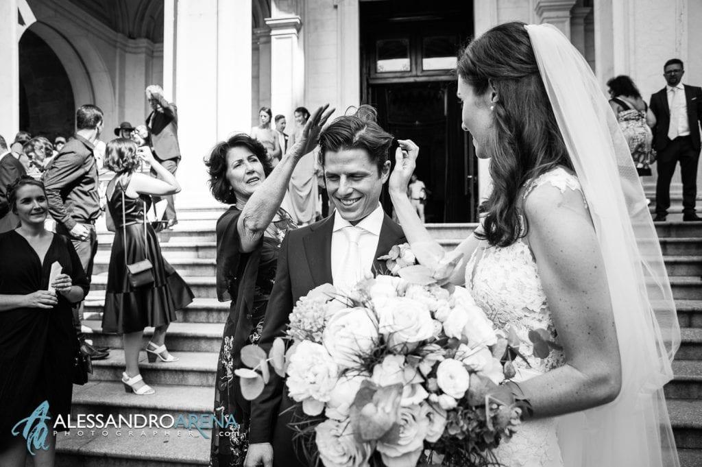 Sposi all'uscita - Destination Wedding