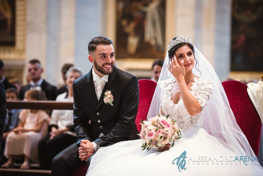 La sposa si emoziona - matrimonio chiesa Collegiata Bellinzona