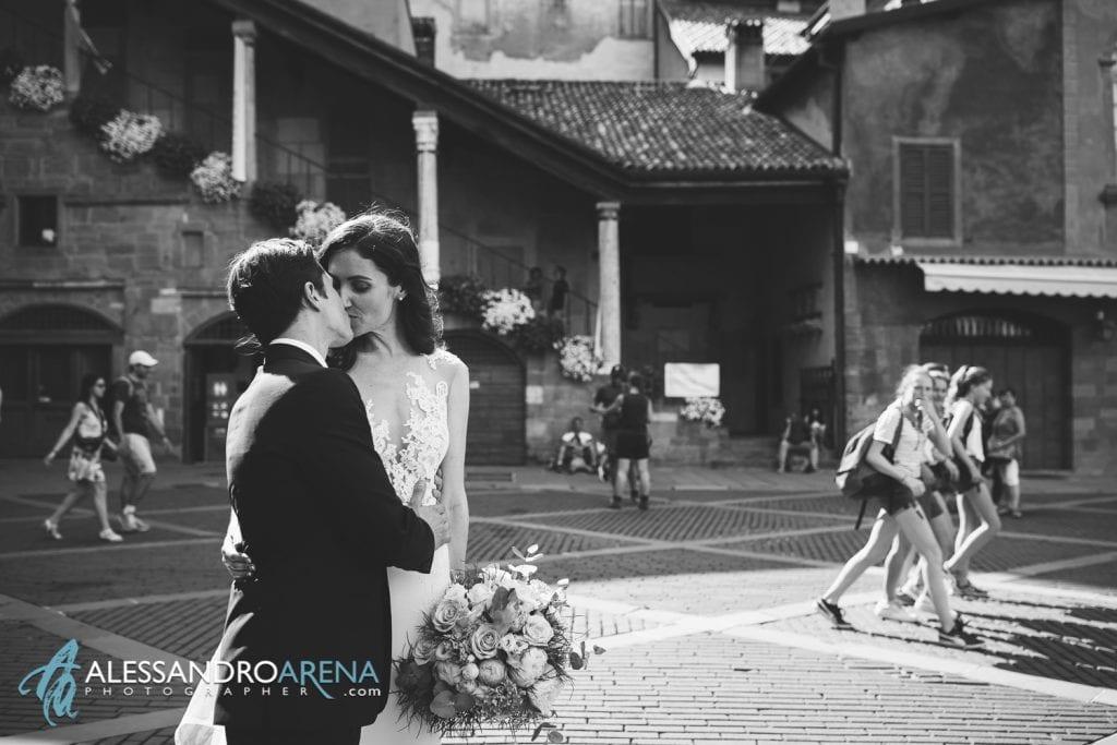 Foto Matrimonio Piazza Vecchia Bergamo Alta